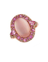 Marco Moore Diamond Quartz And 14K Rose Gold Ring Pink