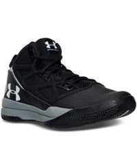Under Armour Men's Jet Mid Basketball Sneakers From Finish Line Black Steel White