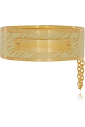 Marc By Marc Jacobs Gold Plated And Enamel Cuff White
