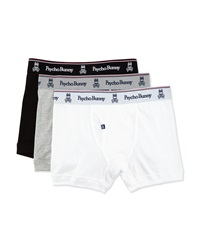 Psycho Bunny Vintage 3 Pack Tag Free Knit Boxer Briefs Small
