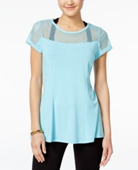 Jessica Simpson The Warm Up Juniors' Mesh T Shirt Only At Macy's Calm Water