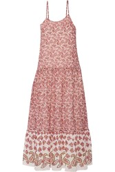W118 By Walter Baker Adrian Printed Crepe Maxi Dress Red