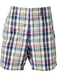 Engineered Garments Checked Deck Shorts White