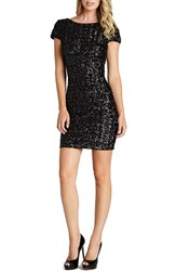 Women's Dress The Population Scooped Back Sequin Body Con Dress Black