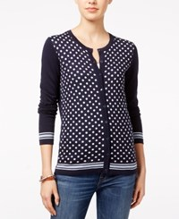 Tommy Hilfiger Kelly Dot Print Cardigan Masters Navy Multi