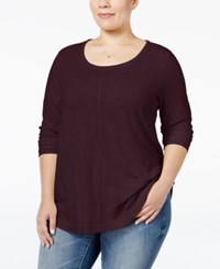 Styleandco. Style Co. Plus Size Long Sleeve T Shirt Only At Macy's Dried Plum