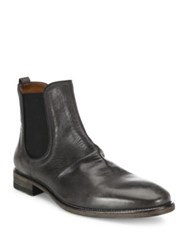 John Varvatos Leather Slip On Boots Lead