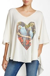 Wildfox Couture Parrots Jungle Tahiti Tunic White
