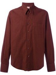 Romeo Gigli Vintage Patch Pocket Shirt Red
