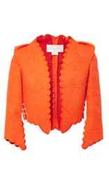 Antonio Berardi Scalloped Cropped Jacket Orange