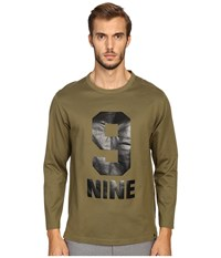 Marc Jacobs Slim Fit Solid Jersey Long Sleeve Tee Olive Men's T Shirt