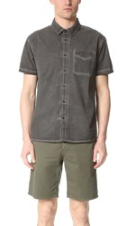 Rvca Cold Ones Short Sleeve Shirt Pirate Black