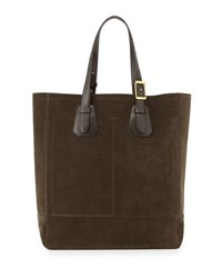 Tom Ford Men's Suede Tote Bag Olive