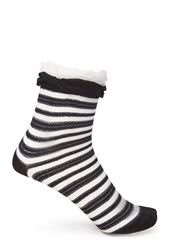 Forever 21 Striped And Ruffled Crew Socks