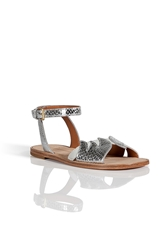 Marc By Marc Jacobs Embossed Leather Suede Sandals