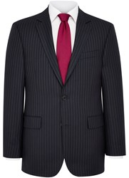 Austin Reed Stripe Notch Collar Classic Fit Suit Navy