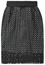 Sister Jane Secret Hearts Pleated Skirt Black White