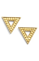 Anna Beck 'Gili' Triangle Stud Earrings Gold Silver