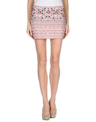 Antik Batik Mini Skirts Pastel Pink