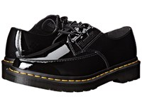 Dr. Martens Belladonna Pointed 2 Eye Creeper Black Patent Lamper Women's Lace Up Casual Shoes