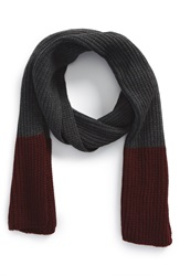 The Rail Colorblock Scarf Grey Black Wine