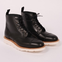 Mark Mcnairy Toe Cap Derby Boot Black Waxy