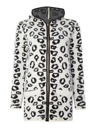 Simon Jeffrey Knitted Hooded Cardigan Off White