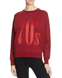 Eleven Paris '70S Sweatshirt Burgundy