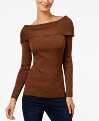 Inc International Concepts Boat Neck Sweater Only At Macy's Bronze