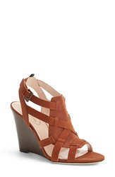 Sarah Jessica Parker Sjp 'Tiana' Strappy Wedge Sandal Women Nordstrom Exclusive Brown Nubuck