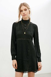 Alice And Uo Gina Victorian Mock Neck Dress Black