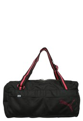 Puma Fundamentals Sports Bag Black Rose Red