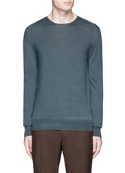 Boglioli Virgin Wool Silk Cashmere Sweater Green