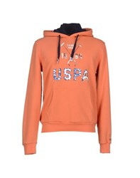U.S. Polo Assn. U.S.Polo Assn. Topwear Sweatshirts Men Orange