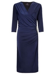 Ariella Rhoda Short Wrap Dress Navy