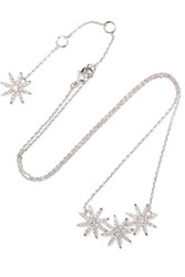 Kenneth Jay Lane Silver Plated Cubic Zirconia Necklace