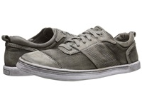 Bed Stu Catfish Light Grey Garment Canvas Leather Men's Lace Up Casual Shoes Gray
