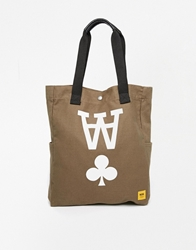 Wood Wood Canvas Tote Bag Green