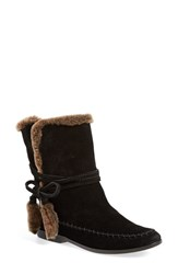 Women's Cynthia Vincent 'Hustle' Bootie Black Brown Suede