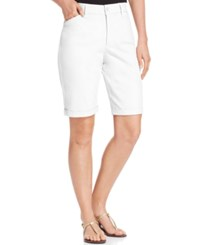 Nydj Briella Cuffed Colored Bermuda Shorts
