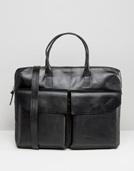 Royal Republiq Leather Bag Double Pocket In Black Black