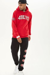 Forever 21 Nfl 49Ers Fleece Hoodie Red White