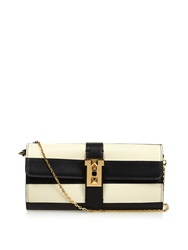 Valentino B Rockstud Striped Leather Wallet