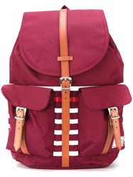 Herschel Supply Co. Colour Block Striped Backpack Red