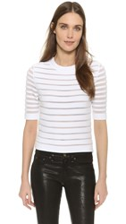 Thierry Mugler Short Sleeve Sweater Off White