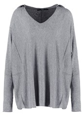 Only Onlfrancis Hoodie Medium Grey Melange Mottled Grey