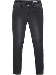 Anine Bing Mid Rise Skinny Jeans Black