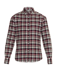 Michael Bastian Checked Cotton Flannel Shirt