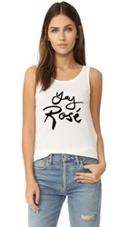 Minkpink Yay Rose Tank Cream Black