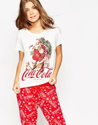 New Look Christmas Coca Cola Pj Set Red